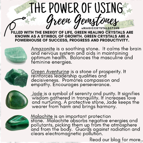 The Power of Using Green Gemstones