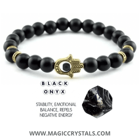 Black Onyx Bracelet - Magic Crystals - Black Onyx Jewelry