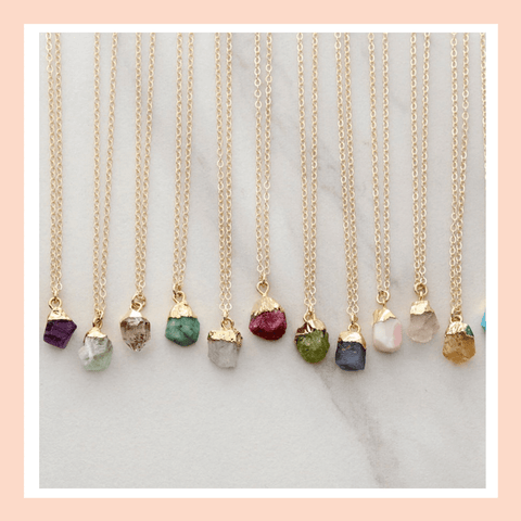 12-thoughtful-gift-ideas-for-spiritual-people-Magic-Crystals-Gemstone-Necklaces-Collection