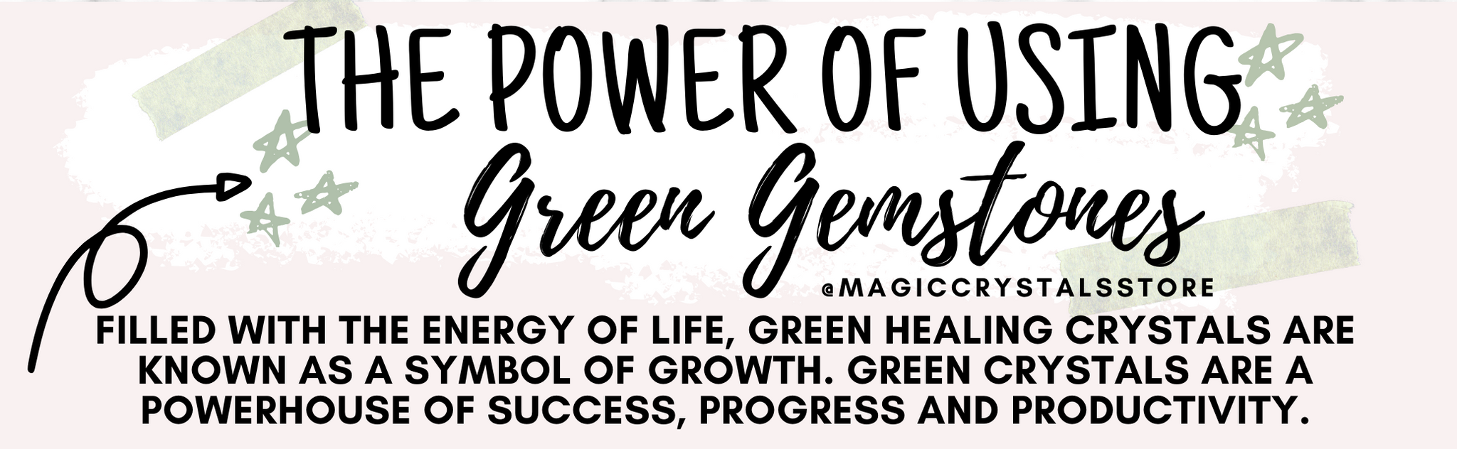 Green Healing Crystals for Growth, Wisdom & Wealth