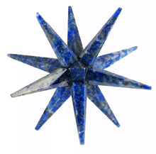 Load image into Gallery viewer, 12 Point Lapis Lazuli Merkaba Star - Magic Crystals