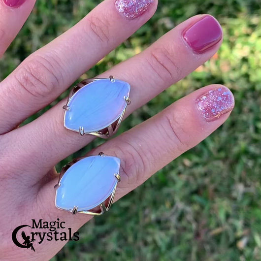 Find the best selection of opalite ring here at MagicCrystals.com . Opalite Stone. Opal Stone rings. Opalite Stone rings and Opalite Jewelry. opal rings help to encourage healing.