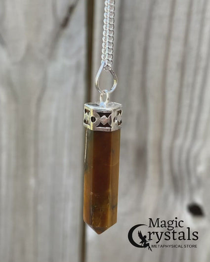 STONE OF PROTECTION : Resembling the properties of tiger, this beautiful crystal makes you abundant to change and also keep you with earth's energy. Traditionally Tiger Eye was carried as an amulet against curses or ill-wishing, and is known to give you courage, self confidence and strength of will. You will feel protected by wearing this tumbled pendant. Tiger Eye is a Gemini and Capricorn Birthstone and works with the Base, Sacral and Solar Plexus Chakras. Makes a perfect Friendship Day gift!