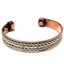 Load image into Gallery viewer, Copper Bracelet Magnetic, Chain cuff wristband - Magic Crystals - Copper bracelet