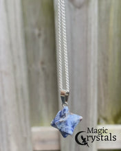 Load and play video in Gallery viewer, Blue Sandstone Gemstone Handmade Merkaba Necklace & Pendant Crystals