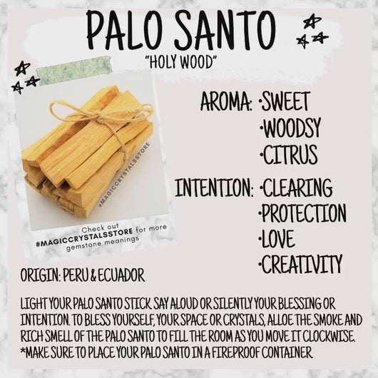 White Sage & Palo Santo for Smudging, Healing, Purifying, Meditating & Incense Combo