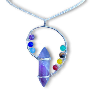 How To Wear An Amethyst? The Amethyst gemstone can be made into a ring or a pendant with silver only. To reduce emotional stress, wear your amethyst jewelry. This Beautiful 7 Chakra Stone Handmade Amethyst Quartz Pendant Necklace represents harmony between the mind, body and soul. FREE SHIPPING available