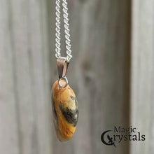 Load and play video in Gallery viewer, Check out our Yellow Jasper Stone pendant and necklace selection for the very best in unique, handmade pieces from Magic Crystals Yellow Jasper Stone necklace, Heart chakra healing Yellow Jasper Stone pendant, Healing Crystal Yellow Jasper Stone Jewelry,Natural stones necklace, Crystal Necklace. Jasper Stones.
