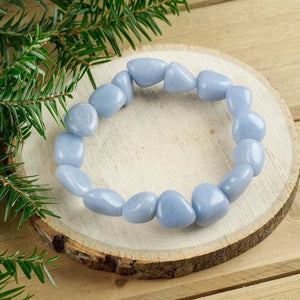 Blue Angelite Tumbled Stone Bracelet,Angelite Jewelry - Magic CrystalsShop for Blue Angelite Tumbled Gemstone Bracelet at Magic Crystals. We carry 6-8 mm Angelite, Stretch Bracelet, Tumbled Stone Bracelet for gift or you. Jewelry Bracelets, and Beaded Bracelets. Tumbled Stone Bracelet, Angelite Jewelry. FREE SHIPPING available.