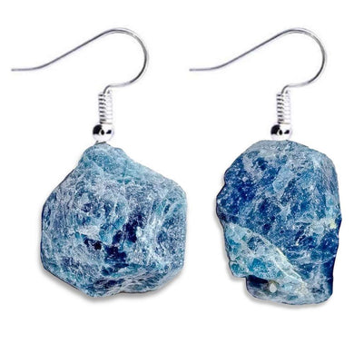 Check out Magic Crystals for the very best in unique, handmade Blue Apatite Earrings. Made of a blue gemstones, this earring set is grade a genuine apatite gemstone. We carry a wide variety of earring set, with raw crystal jewelry and polished stones. - Magiccrystals.com - Gemstone Earrings