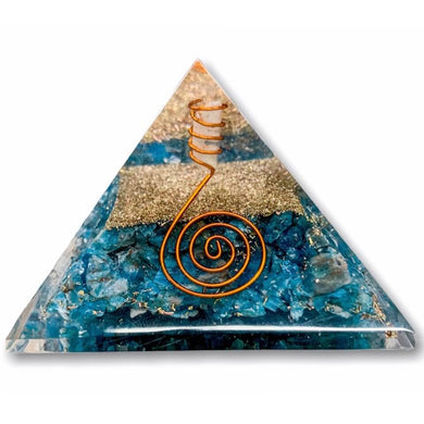Shop for the Best orgone pyramid Collection in Magic Crystals. Large Blue Apatite Orgone Pyramid, Energy Generator Orgone Pyramid for Emf protection. Our Apatite Orgonite pyramids have a mix of organic, resin and non-organic materials. Find Orgone accumulator, orgone generator and Orgonite Blue Apatite Crystals.