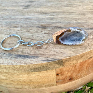 Agate Cluster Keychain - Crystal Jewelry - Magic Crystals