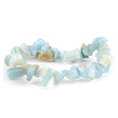 Amazonite Stone Handmade Raw Bracelet-Raw Bracelets-Magic Crystals