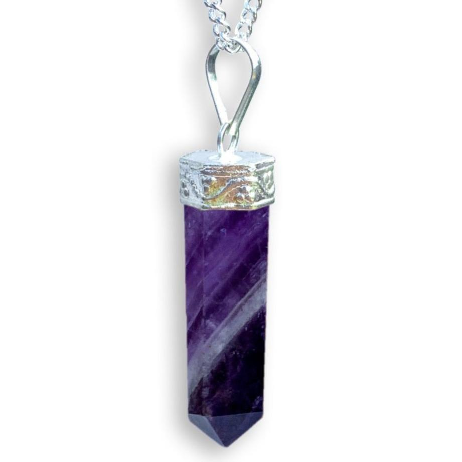 Amethyst Stone Handmade Healing Crystal Necklace - Magic Crystals