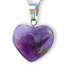 Load image into Gallery viewer, Amethyst Stone Heart Necklace and Pendant Amatista - Magic Crystals  - Heart Necklace