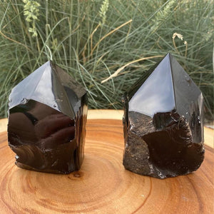 Looking for Black Obsidian crystal points? Shop at Magic Crystals for Black Obsidian Polished Point, Black Obsidian Stone, Black Obsidian Point, Stone Point, Crystal Point, Black Obsidian Tower, Power Point at Magic Crystals. Natural Black Obsidian Gemstone at  Magiccrystals.com - STONES & QUARTZ - Magic Crystals