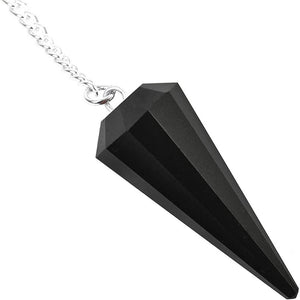 What is a pendulum? A pendulum is an object hung that swings back and forth. Buy Black Obsidian Stone Divination Pendulum, Crystal for Dowsing in Magic Crystals. Magiccrystals.com has pendulum with chakra stones for Divine Knowledge. Learn how to use a pendulum, Gemstone pendulum or pendulum stone in our site.