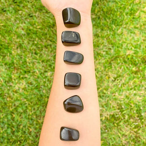 Looking for Black Obsidian? Enjoy FREE SHIPPING at Magic Crystals when you are looking for Black Obsidian TUMBLED MEDIUM - Tumbled Black Obsidian - Grounding Protection - Root Chakra - Base Chakra for Energy Healing. Black Obsidian is a very protective stone and is excellent for removing negativity.