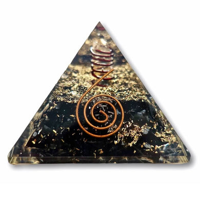 Black Tourmaline Orgone Pyramid - Best orgone pyramid - Orgonite - Magic Crystals