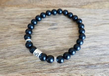 Load image into Gallery viewer, Black Onyx Matte Capricorn Zodiac Sign Bracelet-Bracelets-Magic Crystals