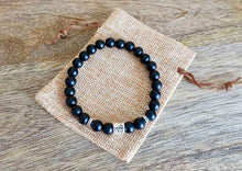 Load image into Gallery viewer, Black Onyx Matte Capricorn Zodiac Sign Bracelet - Magic Crystals - Capricorn Jewelry