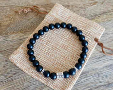 Load image into Gallery viewer, Black Onyx Matte Stone Gemini Zodiac Sign Bracelet-Bracelets-Magic Crystals