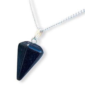 Black Onyx Stone Quartz Single Point Necklace-NECKLACES-Magic Crystals