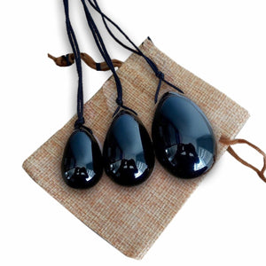 Black Onyx Stone Yoni Eggs Set-YONI EGGS-Magic Crystals