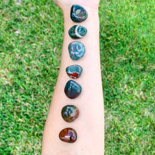 Load image into Gallery viewer, Buy Bloodstone Tumbled Stones | Bloodstone Polished Gemstones | Bulk Crystals at Magic Crystals. Bloodstone or Sanguinaria is an uplifting and protective. It facilitates clarity decision and boosts energy. FREE SHIPPING available.