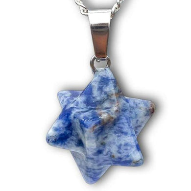 Shop for Blue Spot Jasper Stone Star of David pendant. Estrella de David Merkaba. Blue Spot Jasper Stone Star Of David Shape Healing necklace Online. Merkaba Star handcrafted made of Blue Spot Jasper Stone. Buy online Healing Stones.Estrella colgante de piedra jaspe azul con collar esterlina plata forjada a mano por Magic Crystals.