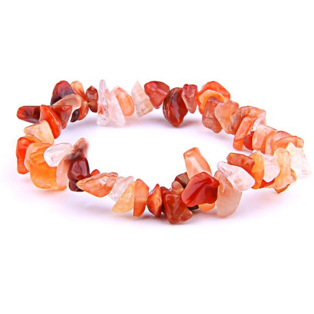 Carnelian Stone Elastic Raw Bracelet-Raw Bracelets-Magic Crystals