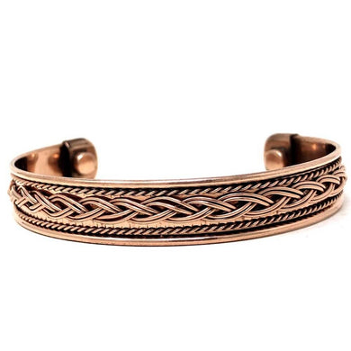 Copper Bracelet Magnetic, Chain cuff wristband - Magic Crystals