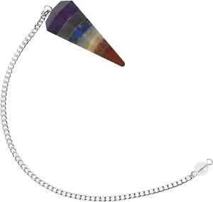What is a pendulum? A pendulum is an object hung that swings back and forth. Buy 7 Chakra Pendulum Stone Divination Pendulum for Dowsing at Magic Crystals. Magiccrystals.com has pendulum with chakra stones for Divine Knowledge. Learn how to use pendulum, Gemstone pendulum or pendulum stone in our site.
