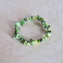 Load image into Gallery viewer, Chrysoprase Stone Raw Bracelet - Chrysoprase Jewelry - Magic Crystals