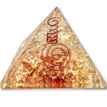 Load image into Gallery viewer, Citrine Orgone Pyramid, Best orgone pyramid, Orgonite - Magic Crystals - PYRAMIDS