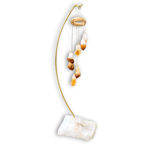 Citrine Crystal Points Desk Chime Home Decor - Magic Crystals - Home Decor & Clearing Tools