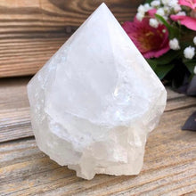 Load image into Gallery viewer, Looking for Clear Quartz crystal points? Shop at Magic Crystals for Clear Quartz Polished Point, Clear Quartz Stone, Clear Quartz Point, Stone Point, Crystal Point, Clear Quartz Tower, Power Point at Magic Crystals. Find genuine and quality Clear Quartz Gemstone in Magiccrystals.com offers the best quality gemstones.