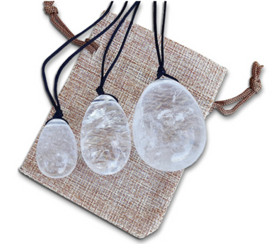 Clear Quartz Yoni Eggs Set-YONI EGGS-Magic Crystals