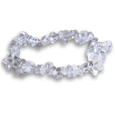 Crystal Clear Quartz Stone Handmade Raw Bracelet - Magic Crystals