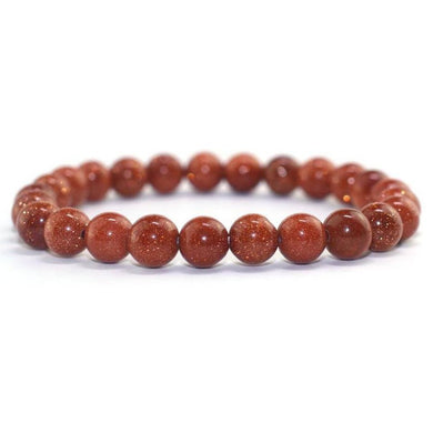 GoldStone Stone Elastic Bead Bracelet-Bracelets-Magic Crystals