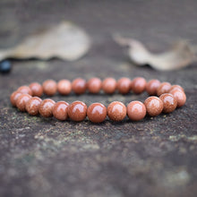 Load image into Gallery viewer, GoldStone Stone Elastic Bead Bracelet-Bracelets-Magic Crystals
