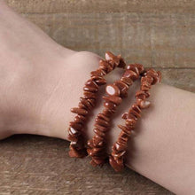Load image into Gallery viewer, GoldStone Stone Elastic Raw Bracelet, GoldStone Jewelry,Magic Crystals