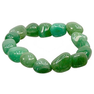 Green Aventurine Tumbled Stone elastic bracelet. Looking for Jewelry, Bracelets, Beaded Bracelets, tumbled stone gems and elastic gem bracelet? Shop at Magic Crystals for Green Aventurine Jewelry. Green Aventurine Bracelet great for LUCK and PROSPERITY. FREE SHIPPING available.