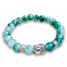 Load image into Gallery viewer, Green Chalcedony Buddha Bracelet - Chalcedony Jewelry - Magic Crystals