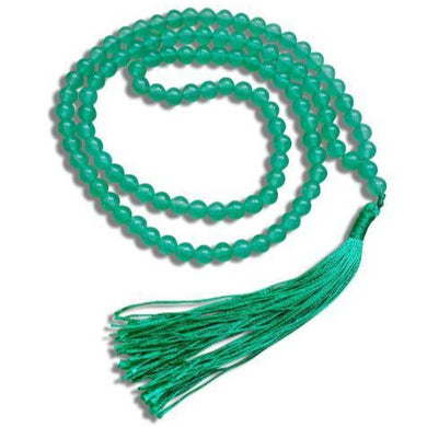 Green Aventurine Stone Mala Necklace made of 6mm 108 Beads-Mala Necklaces-Magic Crystals