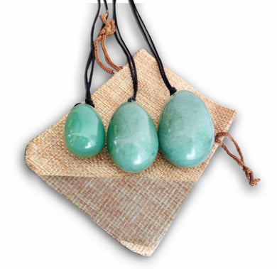 Green Aventurine Stone Yoni Eggs Set-YONI EGGS-Magic Crystals