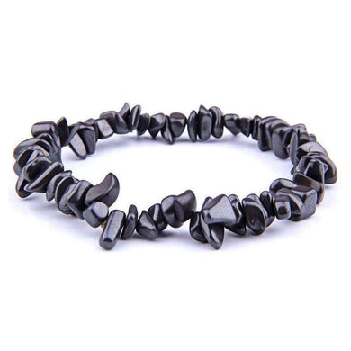 Hematite Stone Elastic Raw Bracelet, Hematite Jewelry - Magic Crystals