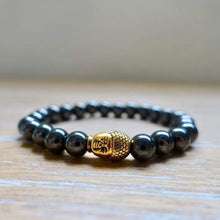 Load image into Gallery viewer, Hematite Gold Buddha  Bracelet - Hematite Jewelry - Magic Crystals