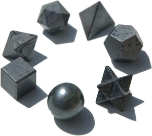 Hematite Sacred Geometry 7 pcs Set-Sacred Geometry-Magic Crystals