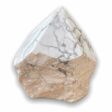 Load image into Gallery viewer, Looking for Howlite crystal points? Shop at Magic Crystals for Howlite Polished Point, Howlite Stone, Howlite Point, Stone Point, Crystal Point, Howlite Tower, Power Point at Magic Crystals. Natural Howlite at Magiccrystals.com offers the best quality gemstones.